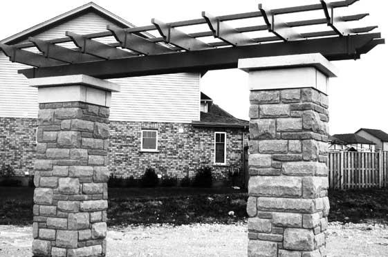 Precast Concrete Arches : Concrete arch precast columns entry pillars post caps