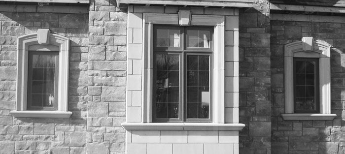 Concrete window sill precast caps window trim keystone for Window design cement